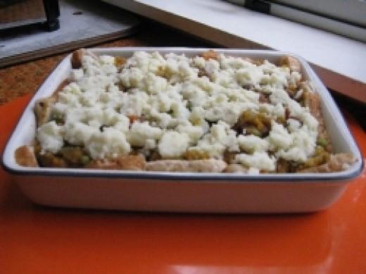 Pie with Potato added