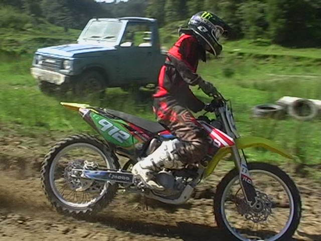 Dirt bike riding