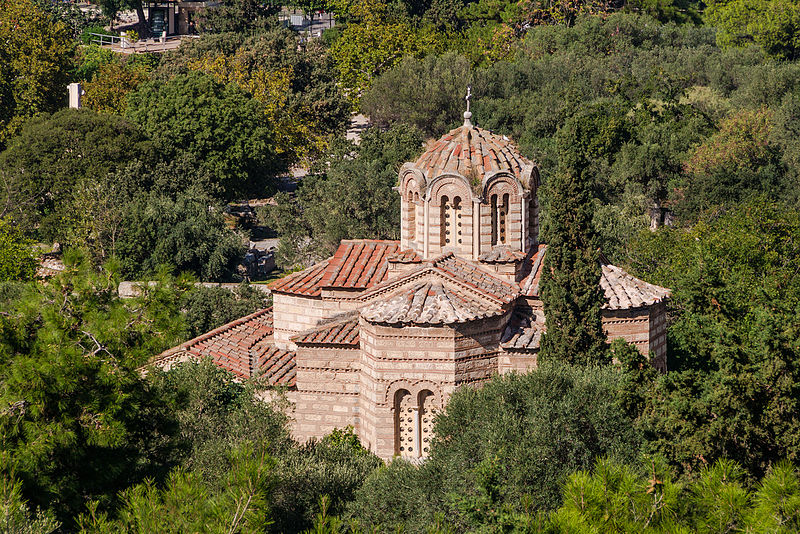 Holy_Apostles_church_ancient_agora_from_Acropolis_Athens