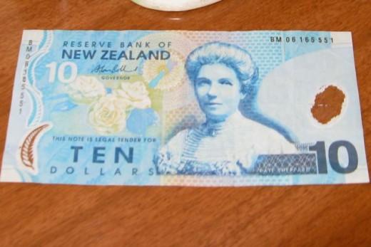 Kate Sheppard ten dollar note