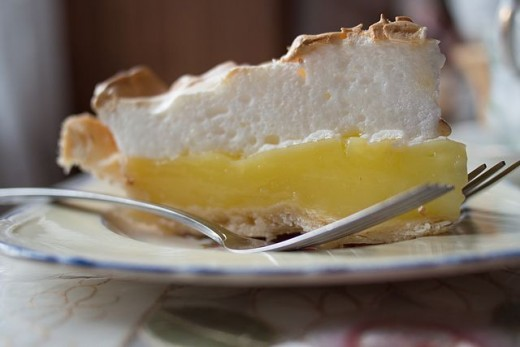 Piece of Lemon Meringue Pie